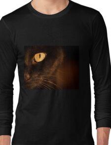 Portrait black cat Long Sleeve T-Shirt
