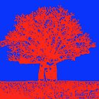 blue and red boab tree  by Nada  Pantle