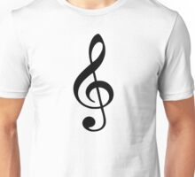 Music note clef Unisex T-Shirt