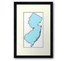 New Jersey Framed Print
