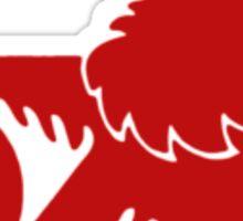 Red Old Holden Logo Sticker