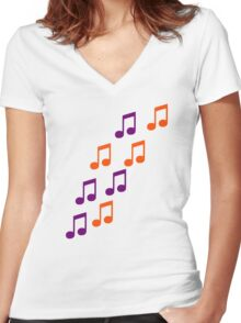 Notes Women's Fitted V-Neck T-Shirt