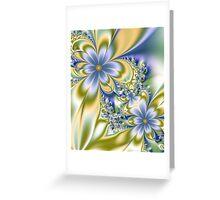 Silky Flowers Greeting Card