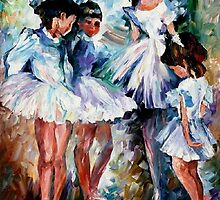 Young Ballerinas — Buy Now Link - www.etsy.com/listing/225370271 by Leonid  Afremov