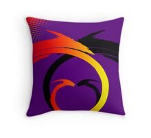 Swirls Faceoff v1 Throw Pillow