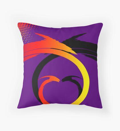Swirls Faceoff v1 Throw Pillow
