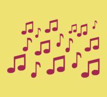 Music notes Kids Tee