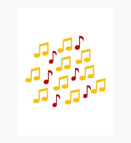 Yellow music notes Photographic Print