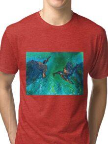 Kingfishers Making a Splash Tri-blend T-Shirt