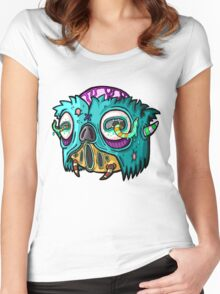 Carnihell #12 Monster head Women's Fitted Scoop T-Shirt