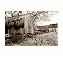 Wooden Slab Barn Art Print