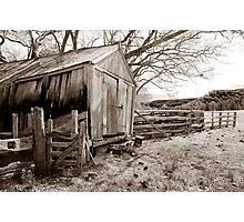 Wooden Slab Barn Photographic Print