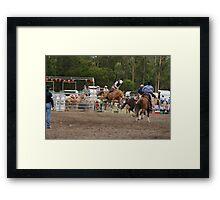 Picton Rodeo BRONC13 Framed Print