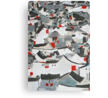 Hutong Abstraction Canvas Print