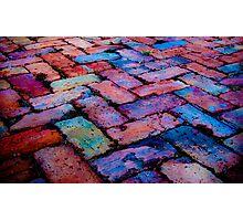 rainbow blocks Photographic Print