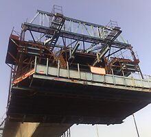 The Bridge Building platform being used in the construction of the Delhi Metro by ashishagarwal74