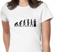 Evolution Nun Womens Fitted T-Shirt