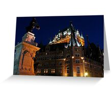 Fairmont Chateau Frontenac, Quebec Greeting Card