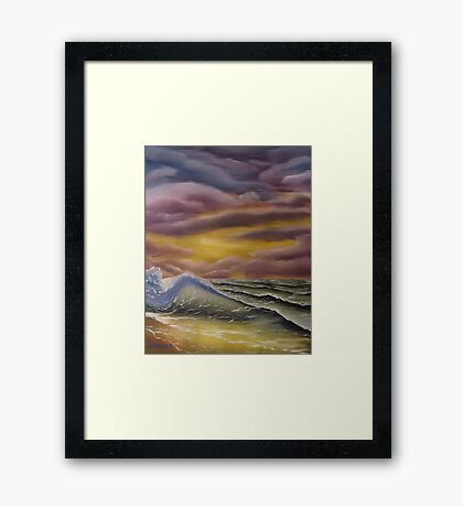 Saltwater Sunset Framed Print