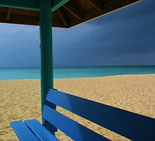 beach hut cayman islands caribbean by Michael Bisset