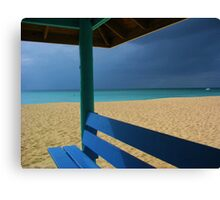 beach hut cayman islands caribbean Canvas Print