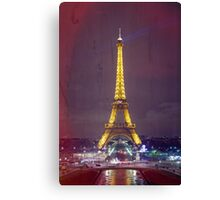 Eiffel Tower Texture Canvas Print