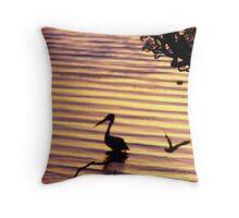 Plum Pelican Throw Pillow