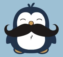Mustache Penguin Kids Clothes