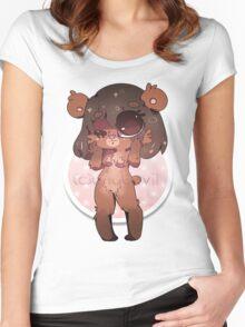KAWAII chocovii Furry Chibi Mascot Women's Fitted Scoop T-Shirt