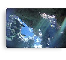 Sun Rays Through the Water Canvas Print