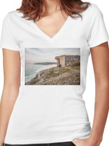 Relic of War Women's Fitted V-Neck T-Shirt