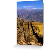 Peruvian Highlands Greeting Card