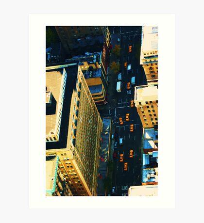new york yellow cabs Art Print