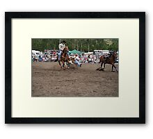 Picton Rodeo STEER1 Framed Print
