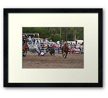 Picton Rodeo STEER4 Framed Print