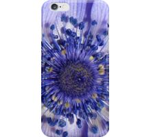 The Heart of a Purple Poppy Anemone iPhone Case/Skin