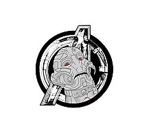 Ultron and Logo Photographic Print
