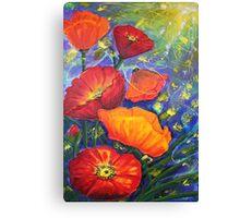 Poppies Seeking Light Canvas Print