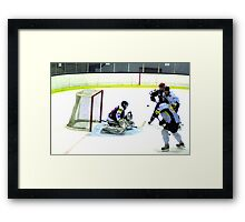 get in there Framed Print