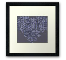 Knitting Knit Love Heart Framed Print