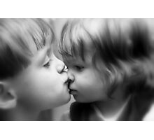Give us a kiss!! Photographic Print
