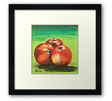 Three Red Apples Framed Print