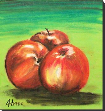Three Red Apples by Alan Hogan
