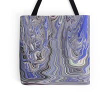 Thawing Out Blue Abstract Art Tote Bag