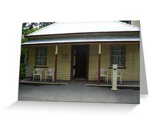 Adam Lindsay Gordon Cottage..Ballarat Victoria Greeting Card