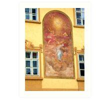 Prague mural Art Print