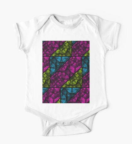 Abstract Colorful Background One Piece - Short Sleeve