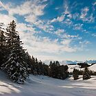Winter panorama above Amden by peterwey