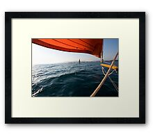 Sailing to anchor Framed Print