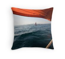 Sailing to anchor Throw Pillow